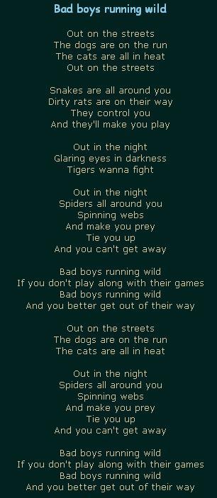 Bad boys running wild