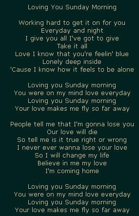 Loving You Sunday Morning