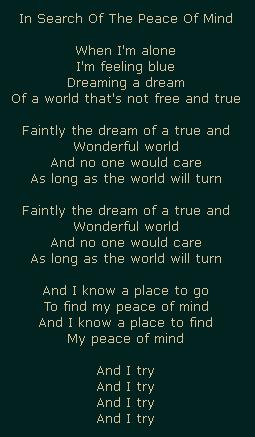 Я постоянно в поиске мира